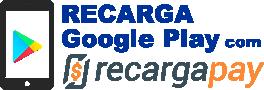 Logo Recarga Google Play com Recargapay