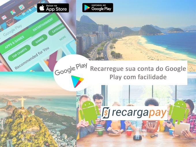 Recarga sua conta do Google Play conosco