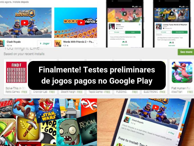 Demonstração de teste para jogos pagos com Google Play