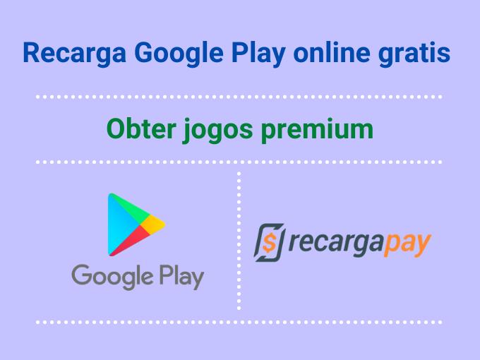 Passos para recarga Google Play online gratis