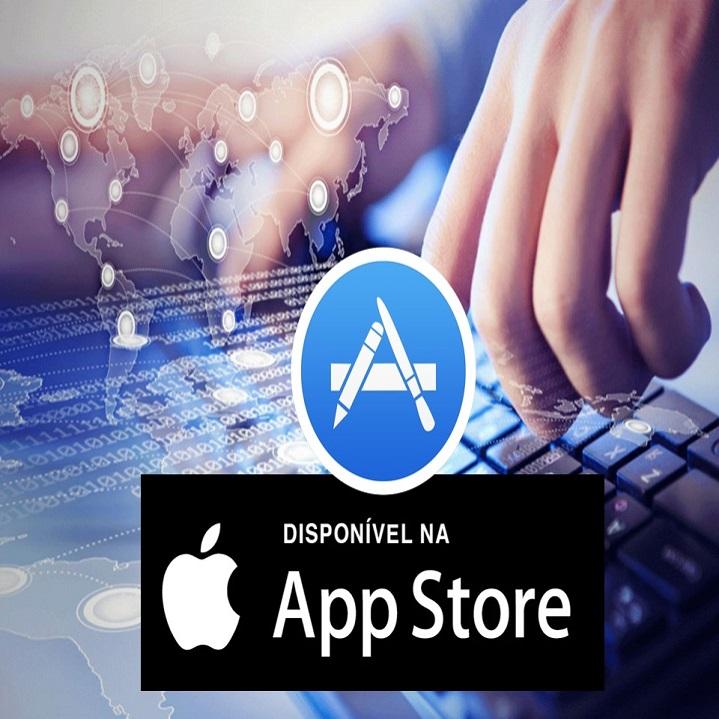 Disponível na App Store para iOS