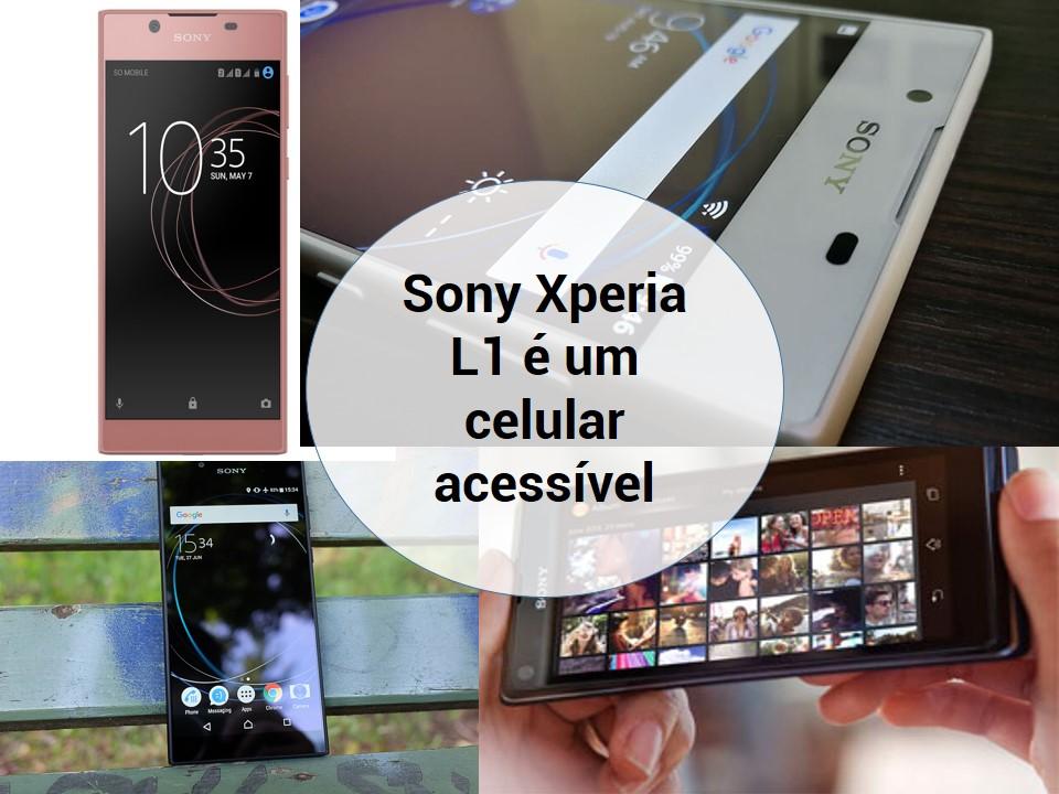 Celular acessível Sony Xperia L1