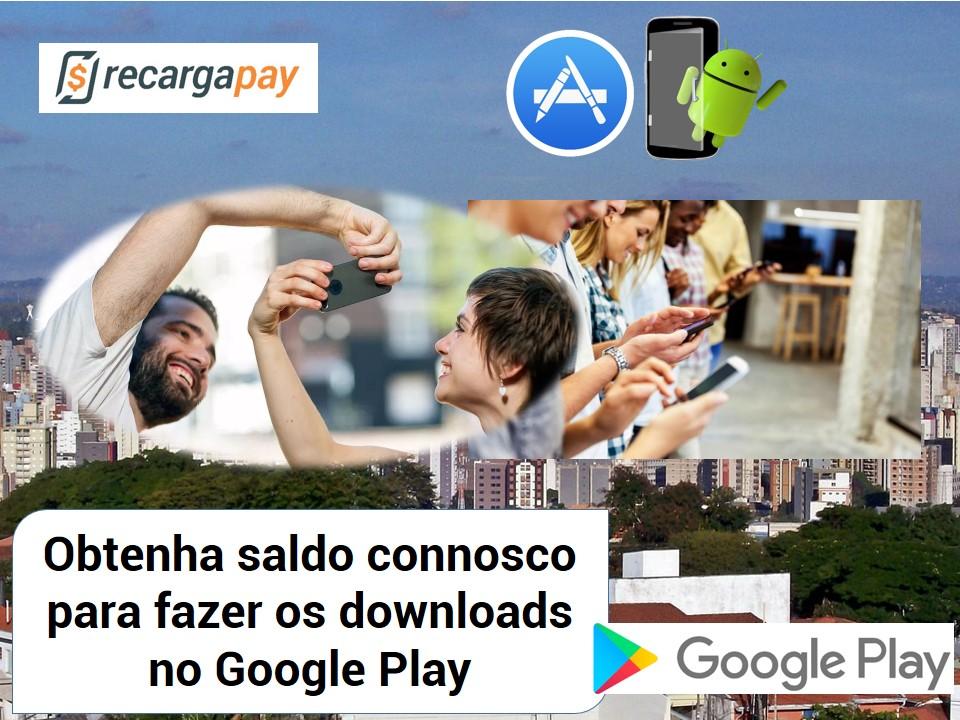 Obtenha saldo para fazer os downloads no Google Play