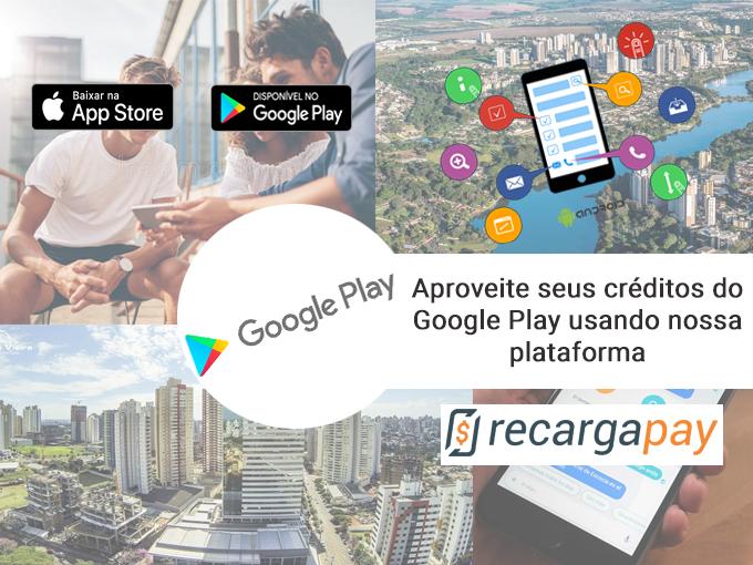 Recarregue seus créditos do Google Play conosco!