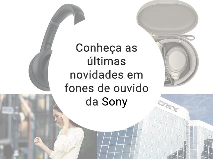 Este é o novo modelo de fones de ouvido da Sony para o Brasil