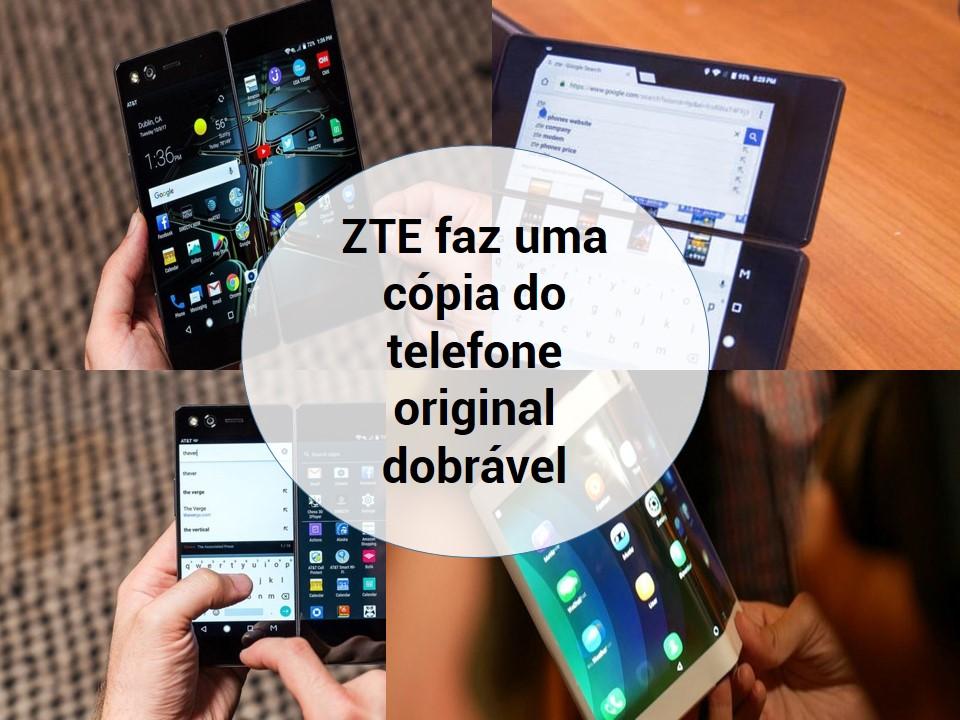 Celular dobrável da marca ZTE chega ao mercado