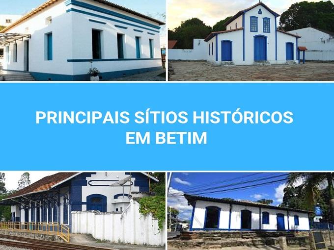 Principais sítios históricos em Betim