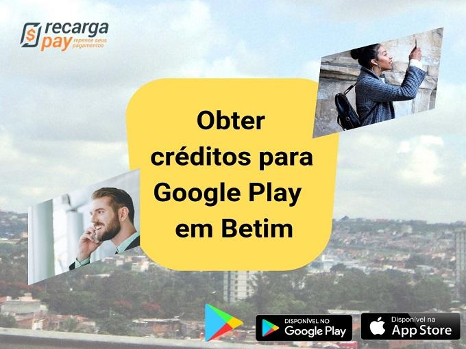 Recarregue Google Play online com Recargapay