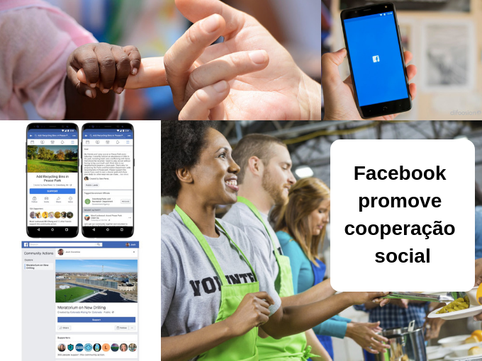 Facebook promove meios de assistência social