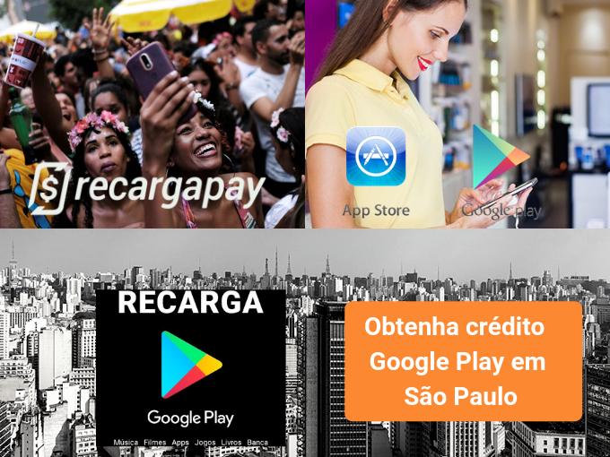 Recargapay está presente em São Paulo para seu credito no Google Play