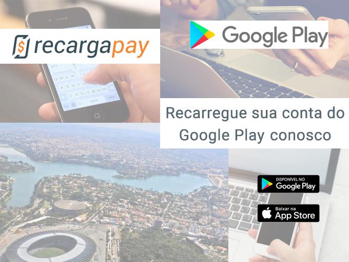 Recarregue sua conta do Google Play conosco