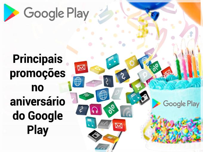 Principais promoções no aniversário do Google Play