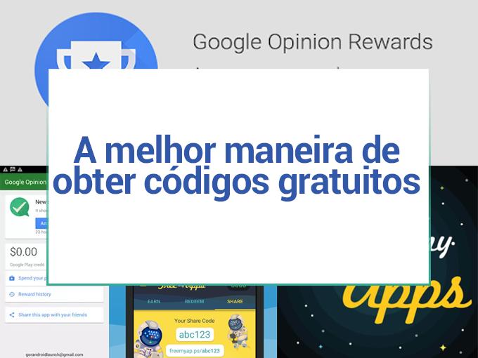 A melhor maneira de obter códigos gratis do Google Play