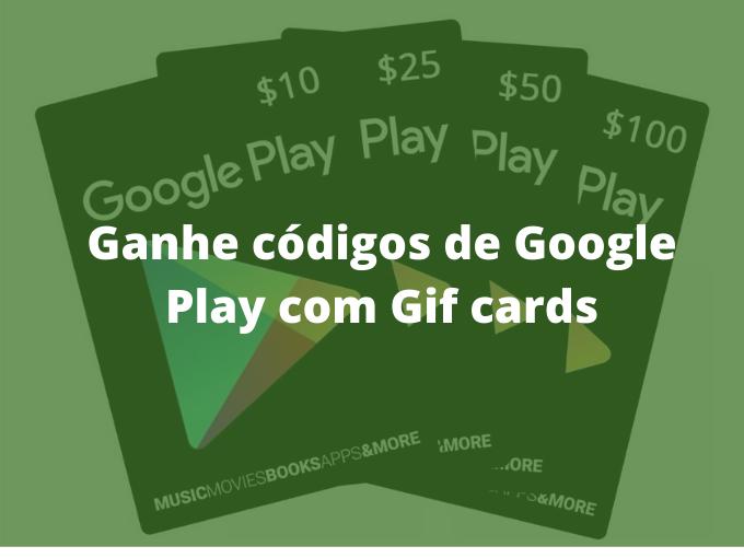 Códigos da Play Store com Gift cards
