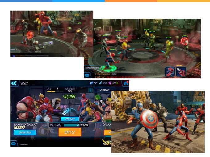 Viva a experiência da Marvel Strike Force