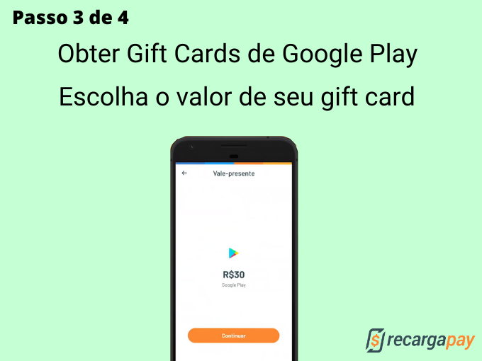 Passo 3 de 4 para Obter Gift Cards de Google Play (1)