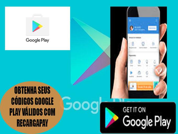 Adquira seus códigos google play válidos com RecargaPay