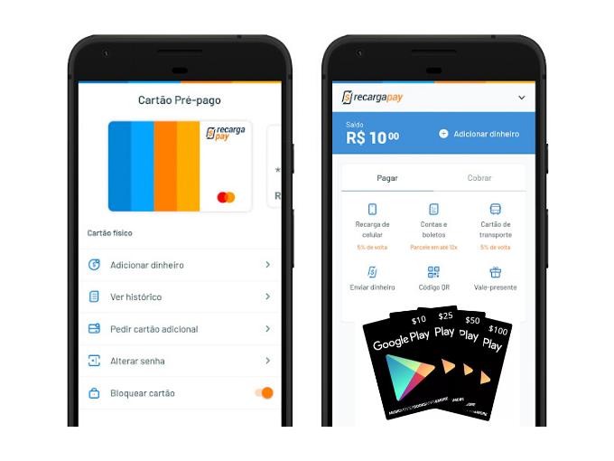 recarga Google Play online