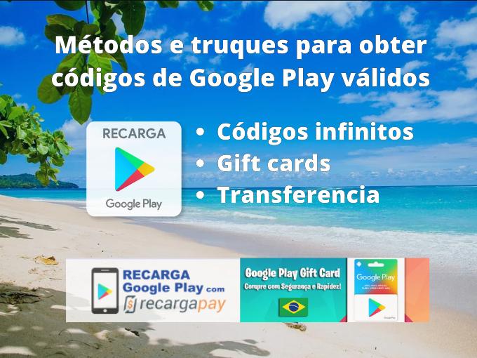 códigos validos google play 2020