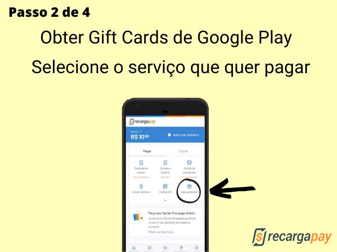 Passo 2 de 4 para Obter Gift Cards de Google Play (4)