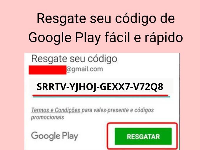 Resgate seus códigos de Google Play
