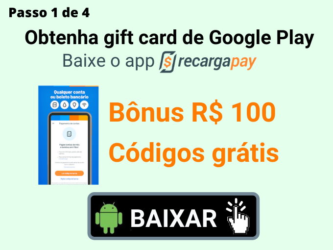 passo 1 de 4 para Obtenha gift card de Google Play