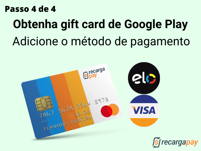 passo 4 de 4 para Obtenha gift card de Google Play